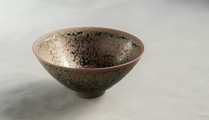 Tea Bowl by Koji Kamada (鎌田幸二)  --  Kamada workshop (鎌田幸二の作業場)  --  Kyoto, Japan  --  Copyright 2012 Jeffrey Friedl, http://regex.info/blog/