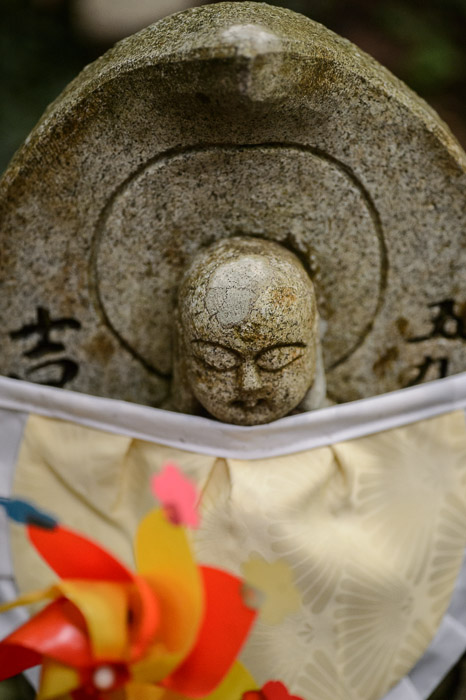 Slight Headache Statue #59  --  Kongorinji Temple ()  --  Echi, Shiga, Japan  --  Copyright 2012 Jeffrey Friedl, http://regex.info/blog/  --  This photo is licensed to the public under the Creative Commons Attribution-NonCommercial 3.0 Unported License http://creativecommons.org/licenses/by-nc/3.0/ (non-commercial use is freely allowed if proper attribution is given, including a link back to this page on http://regex.info/ when used online)