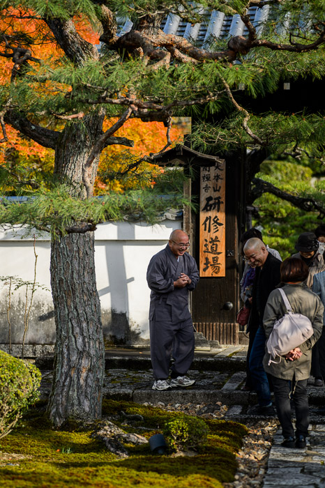 Greeting Visitors -- Enkouji Temple (圓光寺) -- Kyoto, Japan -- Copyright 2012 Jeffrey Friedl, http://regex.info/blog/ -- This photo is licensed to the public under the Creative Commons Attribution-NonCommercial 3.0 Unported License http://creativecommons.org/licenses/by-nc/3.0/ (non-commercial use is freely allowed if proper attribution is given, including a link back to this page on http://regex.info/ when used online)