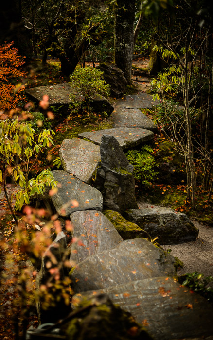 "desktop background image of a fall-foliage garden scene at the Housen-in Temple (宝泉院), Kyoto Japan  --  ""Bridge"" Over ""River"" the river is merely suggested by the small light-colored gravel  --  Housen-in Temple (宝泉院)  --  Copyright 2012 Jeffrey Friedl, http://regex.info/blog/2013-02-16/2211  --  This photo is licensed to the public under the Creative Commons Attribution-NonCommercial 3.0 Unported License http://creativecommons.org/licenses/by-nc/3.0/ (non-commercial use is freely allowed if proper attribution is given, including a link back to this page on http://regex.info/ when used online)"