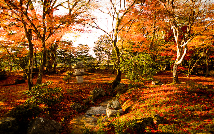 desktop background image of a fall-foliage scene at the Shugakuin Imperial Villa (修学院離宮), Kyoto Japan  --  Stream  --  Shugakuin Imperial Villa (修学院離宮)  --  Copyright 2012 Jeffrey Friedl, http://regex.info/blog/  --  This photo is licensed to the public under the Creative Commons Attribution-NonCommercial 3.0 Unported License http://creativecommons.org/licenses/by-nc/3.0/ (non-commercial use is freely allowed if proper attribution is given, including a link back to this page on http://regex.info/ when used online)