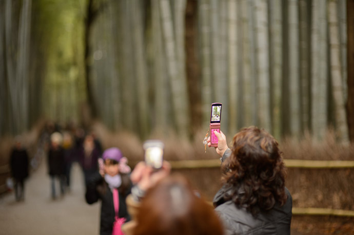 Photo Op for All  --  Arashiyama Bamboo Forest (嵐山竹やぶ)  --  Kyoto, Japan  --  Copyright 2012 Jeffrey Friedl, http://regex.info/blog/  --  This photo is licensed to the public under the Creative Commons Attribution-NonCommercial 3.0 Unported License http://creativecommons.org/licenses/by-nc/3.0/ (non-commercial use is freely allowed if proper attribution is given, including a link back to this page on http://regex.info/ when used online)