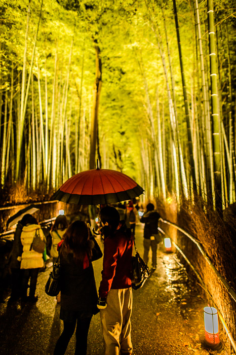 Red Umbrella I love it  --  Arashiyama Bamboo Forest (嵐山竹やぶ)  --  Kyoto, Japan  --  Copyright 2012 Jeffrey Friedl, http://regex.info/blog/  --  This photo is licensed to the public under the Creative Commons Attribution-NonCommercial 3.0 Unported License http://creativecommons.org/licenses/by-nc/3.0/ (non-commercial use is freely allowed if proper attribution is given, including a link back to this page on http://regex.info/ when used online)