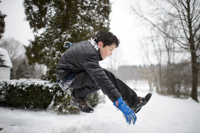 Snow-Pile Leap  --  Rootstown, OH, USA  --  Copyright 2012 Jeffrey Friedl, http://regex.info/blog/