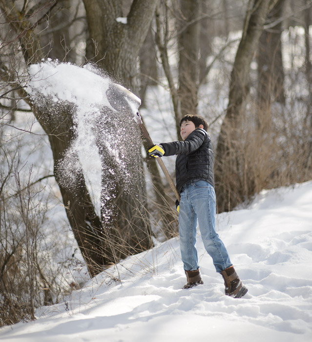 Throwing Snow just because it's there -- Rootstown, OH, USA -- Copyright 2013 Jeffrey Friedl, http://regex.info/blog/