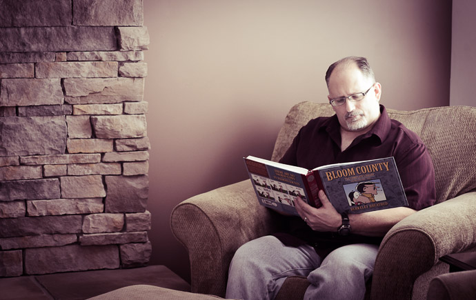 Deep Thoughts contemplating life's mysteries with Bloom County  --  Ray's House  --  Tallmadge, OH, USA  --  Copyright 2013 Jeffrey Friedl, http://regex.info/blog/
