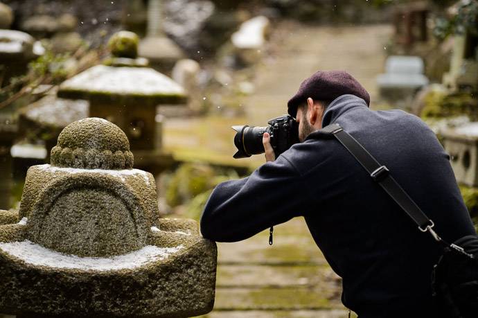 &#8220;Hey, I Found a Snowflake! &#8221;  --  Nishimura Stone Lanterns ()  --  Kyoto, Japan  --  Copyright 2013 Jeffrey Friedl, http://regex.info/blog/  --  This photo is licensed to the public under the Creative Commons Attribution-NonCommercial 3.0 Unported License http://creativecommons.org/licenses/by-nc/3.0/ (non-commercial use is freely allowed if proper attribution is given, including a link back to this page on http://regex.info/ when used online)