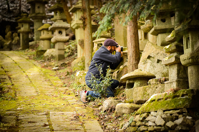 Off The Beaten Path  --  Nishimura Stone Lanterns (西村石灯籠)  --  Kyoto, Japan  --  Copyright 2013 Jeffrey Friedl, http://regex.info/blog/  --  This photo is licensed to the public under the Creative Commons Attribution-NonCommercial 3.0 Unported License http://creativecommons.org/licenses/by-nc/3.0/ (non-commercial use is freely allowed if proper attribution is given, including a link back to this page on http://regex.info/ when used online)
