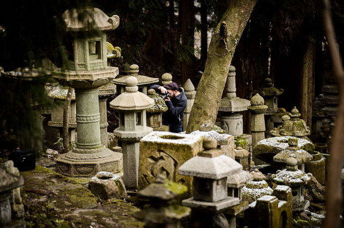 Target-Rich Environment  --  Nishimura Stone Lanterns (西村石灯籠)  --  Kyoto, Japan  --  Copyright 2013 Jeffrey Friedl, http://regex.info/blog/  --  This photo is licensed to the public under the Creative Commons Attribution-NonCommercial 3.0 Unported License http://creativecommons.org/licenses/by-nc/3.0/ (non-commercial use is freely allowed if proper attribution is given, including a link back to this page on http://regex.info/ when used online)