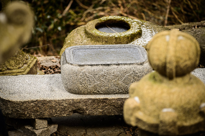 Ice-Colored Stone  --  Nishimura Stone Lanterns ()  --  Kyoto, Japan  --  Copyright 2013 Jeffrey Friedl, http://regex.info/blog/  --  This photo is licensed to the public under the Creative Commons Attribution-NonCommercial 3.0 Unported License http://creativecommons.org/licenses/by-nc/3.0/ (non-commercial use is freely allowed if proper attribution is given, including a link back to this page on http://regex.info/ when used online)