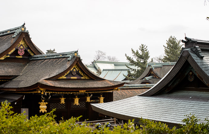 Roofs as Far as the Eye can See Kitano Tenmangu Shrine (北野天満宮) -- Kitano Tenmangu Shrine (北野天満宮) -- Kyoto, Japan -- Copyright 2013 Jeffrey Friedl, http://regex.info/blog/ -- This photo is licensed to the public under the Creative Commons Attribution-NonCommercial 3.0 Unported License http://creativecommons.org/licenses/by-nc/3.0/ (non-commercial use is freely allowed if proper attribution is given, including a link back to this page on http://regex.info/ when used online)
