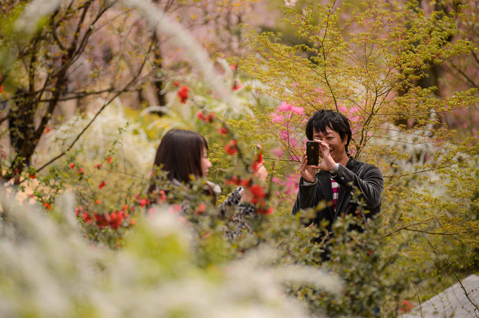 A Photo of someone taking a photo of someone taking a photo of something -- The Haradanien Garden (原谷苑) -- Kyoto, Japan -- Copyright 2013 Jeffrey Friedl, http://regex.info/blog/ -- This photo is licensed to the public under the Creative Commons Attribution-NonCommercial 3.0 Unported License http://creativecommons.org/licenses/by-nc/3.0/ (non-commercial use is freely allowed if proper attribution is given, including a link back to this page on http://regex.info/ when used online)