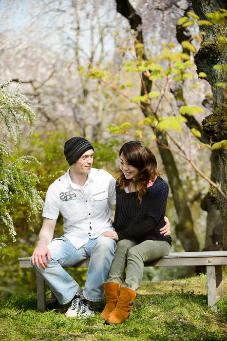 John and Ai at the Haradanien Garden (原谷苑), Kyoto Japan -- The Haradanien Garden (原谷苑) -- Copyright 2013 Jeffrey Friedl, http://regex.info/blog/