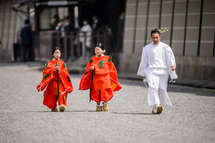 The Princesses seen in yesterday's post -- Aoi Matsuri, at the Kyoto Imperial Palace Park ( Kyoto Gosho ) (葵祭、京都御所) -- Kyoto, Japan -- Copyright 2013 Jeffrey Friedl, http://regex.info/blog/ -- This photo is licensed to the public under the Creative Commons Attribution-NonCommercial 3.0 Unported License http://creativecommons.org/licenses/by-nc/3.0/ (non-commercial use is freely allowed if proper attribution is given, including a link back to this page on http://regex.info/ when used online)