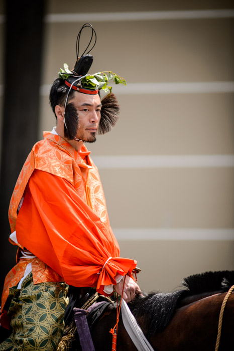 Warrior -- Aoi Matsuri, at the Kyoto Imperial Palace Park ( Kyoto Gosho )  -- Kyoto, Japan -- Copyright 2013 Jeffrey Friedl, http://regex.info/blog/ -- This photo is licensed to the public under the Creative Commons Attribution-NonCommercial 3.0 Unported License http://creativecommons.org/licenses/by-nc/3.0/ (non-commercial use is freely allowed if proper attribution is given, including a link back to this page on http://regex.info/ when used online)