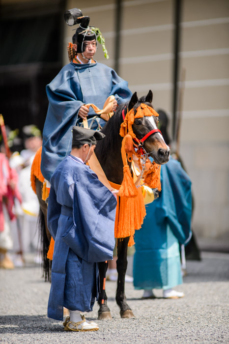 Pride and Groom -- Aoi Matsuri, at the Kyoto Imperial Palace Park ( Kyoto Gosho ) (葵祭、京都御所) -- Kyoto, Japan -- Copyright 2013 Jeffrey Friedl, http://regex.info/blog/ -- This photo is licensed to the public under the Creative Commons Attribution-NonCommercial 3.0 Unported License http://creativecommons.org/licenses/by-nc/3.0/ (non-commercial use is freely allowed if proper attribution is given, including a link back to this page on http://regex.info/ when used online)