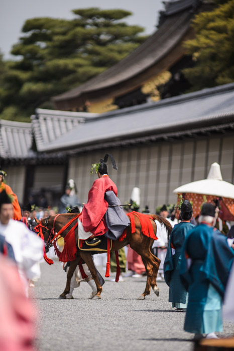 Horse -- Aoi Matsuri, at the Kyoto Imperial Palace Park ( Kyoto Gosho )  -- Kyoto, Japan -- Copyright 2013 Jeffrey Friedl, http://regex.info/blog/ -- This photo is licensed to the public under the Creative Commons Attribution-NonCommercial 3.0 Unported License http://creativecommons.org/licenses/by-nc/3.0/ (non-commercial use is freely allowed if proper attribution is given, including a link back to this page on http://regex.info/ when used online)