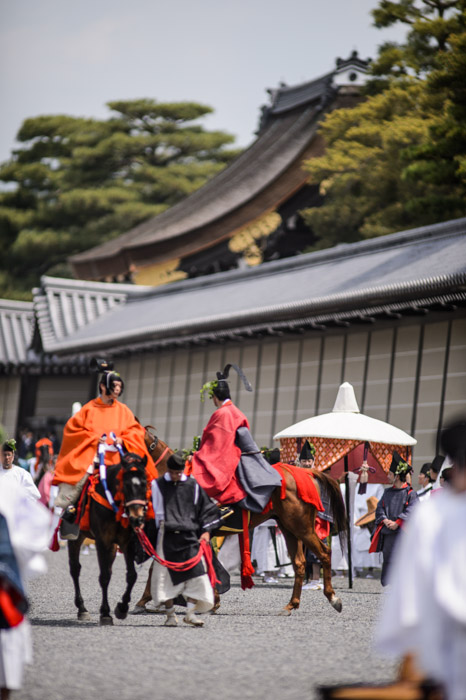 Horses -- Aoi Matsuri, at the Kyoto Imperial Palace Park ( Kyoto Gosho ) (葵祭、京都御所) -- Kyoto, Japan -- Copyright 2013 Jeffrey Friedl, http://regex.info/blog/ -- This photo is licensed to the public under the Creative Commons Attribution-NonCommercial 3.0 Unported License http://creativecommons.org/licenses/by-nc/3.0/ (non-commercial use is freely allowed if proper attribution is given, including a link back to this page on http://regex.info/ when used online)