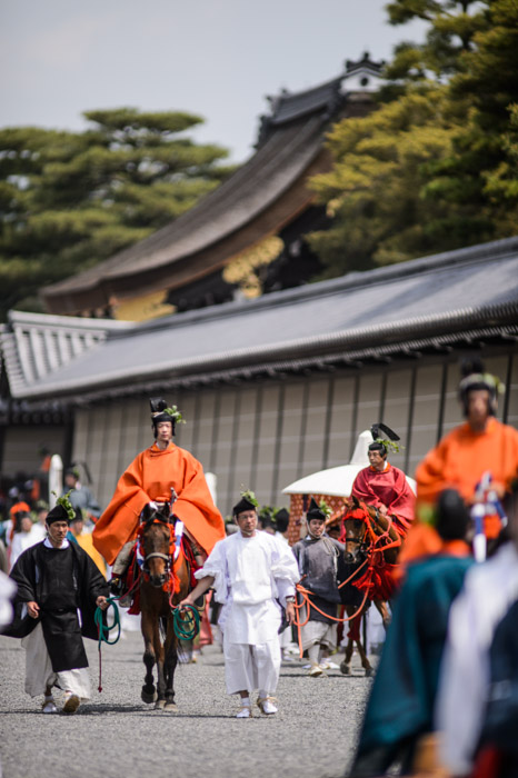 Aoi Matsuri, at the Kyoto Imperial Palace Park ( Kyoto Gosho )  -- Kyoto, Japan -- Copyright 2013 Jeffrey Friedl, http://regex.info/blog/ -- This photo is licensed to the public under the Creative Commons Attribution-NonCommercial 3.0 Unported License http://creativecommons.org/licenses/by-nc/3.0/ (non-commercial use is freely allowed if proper attribution is given, including a link back to this page on http://regex.info/ when used online)