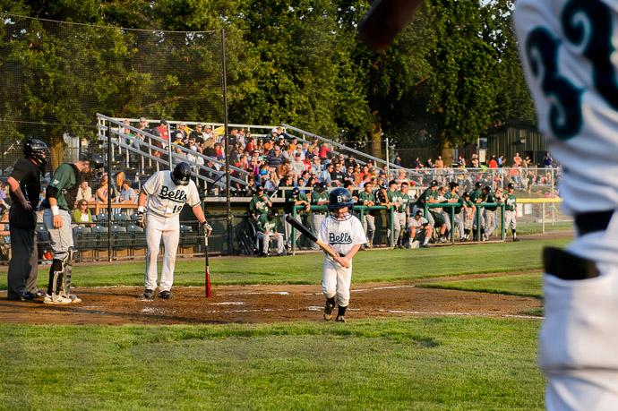 Fetching a Bat -- Joe Martin Stadium -- Bellingham, Washington, USA -- Copyright 2013 Jeffrey Friedl, http://regex.info/blog/