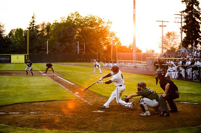 Base Hit -- Joe Martin Stadium -- Bellingham, Washington, USA -- Copyright 2013 Jeffrey Friedl, http://regex.info/blog/