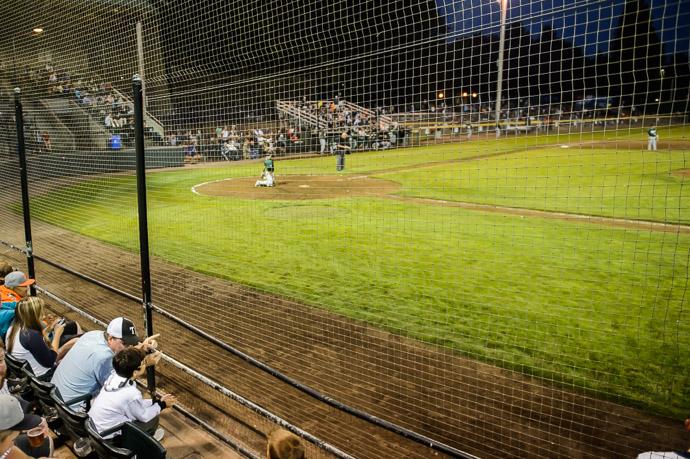 Finer Points Uncle Marty explains baseball to Anthony -- Joe Martin Stadium -- Bellingham, Washington, USA -- Copyright 2013 Jeffrey Friedl, http://regex.info/blog/