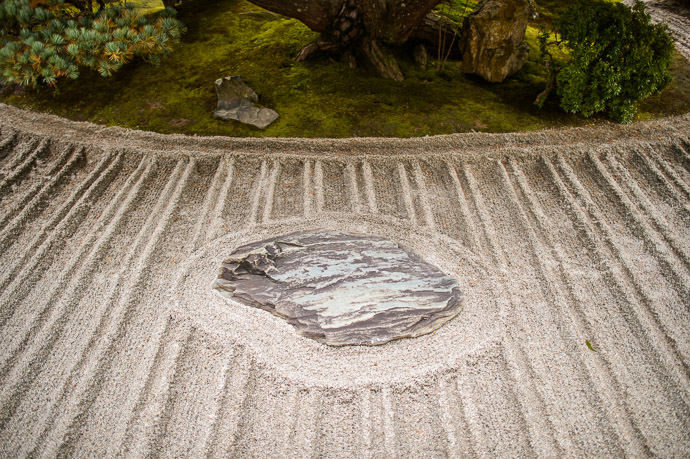 Entrance Stone Garden -- Ginkakuji Temple (銀閣寺) -- Kyoto, Japan -- Copyright 2013 Jeffrey Friedl, http://regex.info/blog/