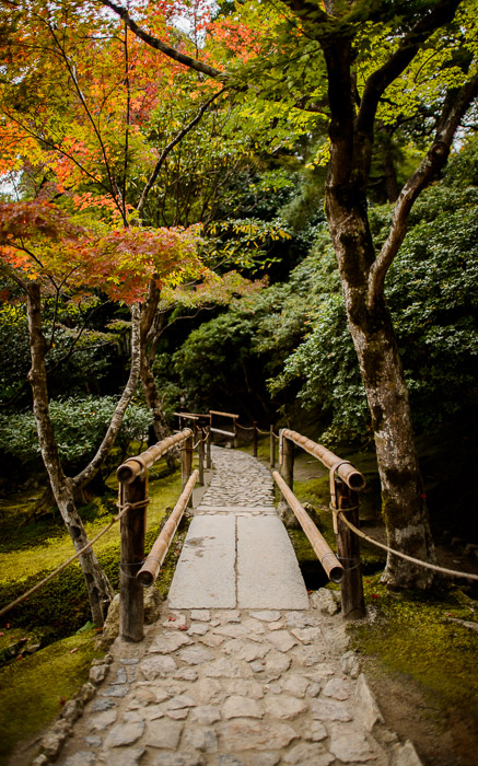 desktop background image of a garden path at the Silver Pavilion, Kyoto Japan (銀閣寺) -- Garden Path -- Ginkakuji Temple (銀閣寺) -- Copyright 2013 Jeffrey Friedl, http://regex.info/blog/