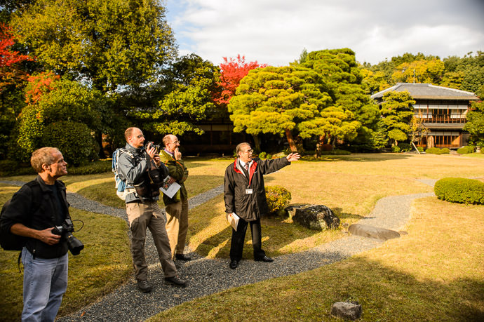 Showing us the Main Garden -- Seifuso Villa (清風荘) -- Kyoto, Japan -- Copyright 2013 Jeffrey Friedl, http://regex.info/blog/ -- This photo is licensed to the public under the Creative Commons Attribution-NonCommercial 4.0 International License http://creativecommons.org/licenses/by-nc/4.0/ (non-commercial use is freely allowed if proper attribution is given, including a link back to this page on http://regex.info/ when used online)