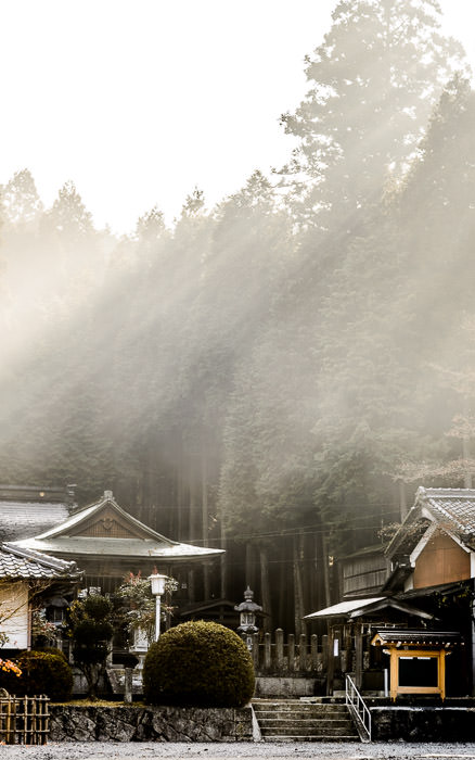 desktop background image of a foggy/smokey scene at the Tenjin Shrine (天神神社) in Koka, Shiga Prefecture, Japan -- Fog and Smoke the latter from an early-morning leaf-burning fire at the Tenjin Shrine (天神神社) in Koka, Shiga Prefecture, Japan (not far from the Miho Museum) -- Tenjin Shrine (天神神社) -- Koka, Shiga, Japan -- Copyright 2013 Jeffrey Friedl, http://regex.info/blog/ -- This photo is licensed to the public under the Creative Commons Attribution-NonCommercial 4.0 International License http://creativecommons.org/licenses/by-nc/4.0/ (non-commercial use is freely allowed if proper attribution is given, including a link back to this page on http://regex.info/ when used online)