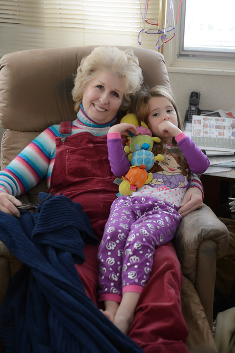 My Mom and her Granddaughter Titi my brother Alan's girl -- Copyright 2014 Jeffrey Friedl, http://regex.info/blog/