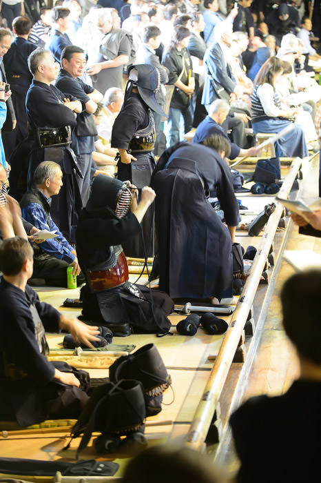 Getting Ready -- Kyubutokuden (旧武徳殿) -- Kyoto, Japan -- Copyright 2014 Jeffrey Friedl, http://regex.info/blog/ -- This photo is licensed to the public under the Creative Commons Attribution-NonCommercial 4.0 International License http://creativecommons.org/licenses/by-nc/4.0/ (non-commercial use is freely allowed if proper attribution is given, including a link back to this page on http://regex.info/ when used online)