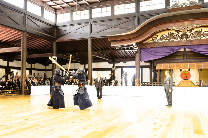 Nice Venue Kyubutokuden Hall ( 旧武徳殿 ), dating from 1899 -- Kyubutokuden (旧武徳殿) -- Kyoto, Japan -- Copyright 2014 Jeffrey Friedl, http://regex.info/blog/ -- This photo is licensed to the public under the Creative Commons Attribution-NonCommercial 4.0 International License http://creativecommons.org/licenses/by-nc/4.0/ (non-commercial use is freely allowed if proper attribution is given, including a link back to this page on http://regex.info/ when used online)