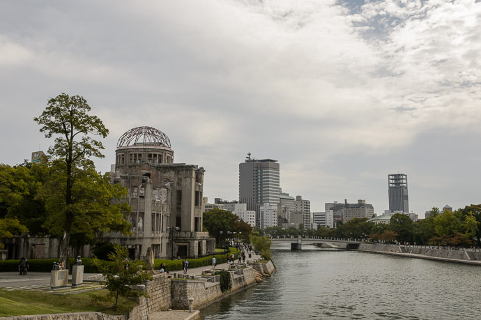 Former Downtown Hiroshima now a park -- Hiroshima, Japan -- Copyright 2014 Jeffrey Friedl, http://regex.info/blog/ -- This photo is licensed to the public under the Creative Commons Attribution-NonCommercial 4.0 International License http://creativecommons.org/licenses/by-nc/4.0/ (non-commercial use is freely allowed if proper attribution is given, including a link back to this page on http://regex.info/ when used online)