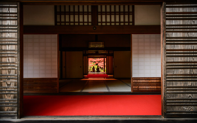 a temple building at the Kongorinji Temple (金剛輪寺), Shiga Japan