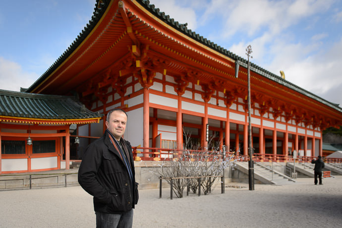 Andrei at the Heian Shrine -- Kyoto, Japan -- Copyright 2014 Jeffrey Friedl, http://regex.info/blog/