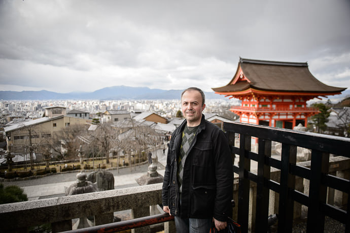 Andrei Overlooking Kyoto -- Kyoto, Japan -- Copyright 2014 Jeffrey Friedl, http://regex.info/blog/