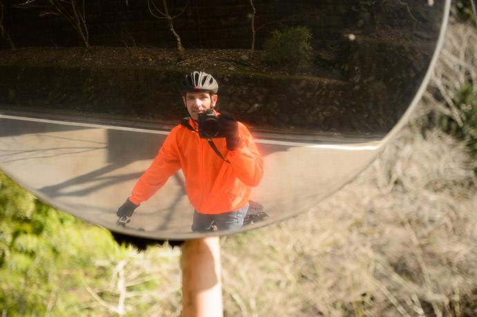 """ OSHA Orange "" is the color of my windbreaker. I call it my "" Ninja Jacket "" . -- Kyoto, Japan -- Copyright 2015 Jeffrey Friedl, http://regex.info/blog/"