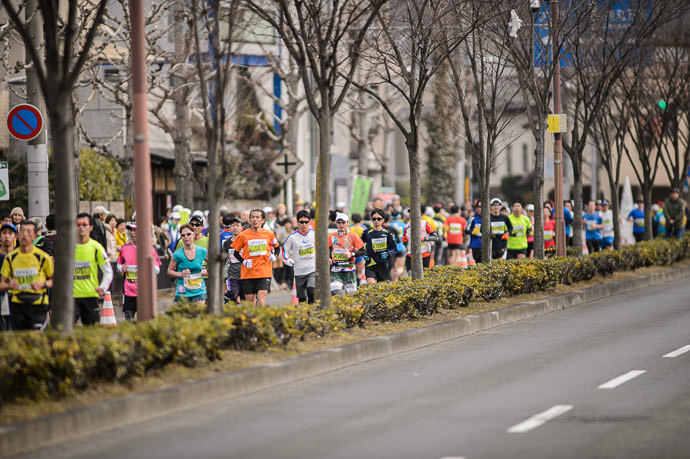 Sea of Faces マラソンの半分点のちょっと後 -- Kyoto, Japan -- Copyright 2015 Jeffrey Friedl, http://regex.info/blog/
