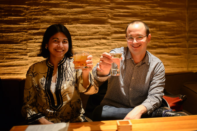 Nadya and Ryan At Uroko (鱗), Kyoto Japan -- Uroko (鱗) -- Copyright 2015 Jeffrey Friedl, http://regex.info/blog/