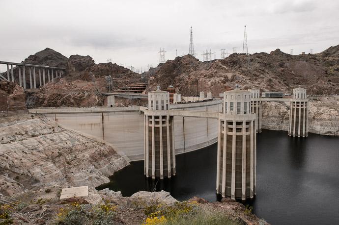 This Afternoon Hoover Dam, Boulder City Arizona 今日。フーヴァーダム、アリゾナ州 -- Boulder City, Arizona, United States -- Copyright 2015 Jeffrey Friedl, http://regex.info/blog/