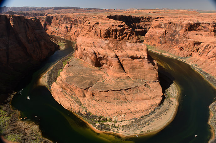 Big Hole is Too Big for my 24mm lens -- Horseshoe Bend -- Page, Arizona, United States -- Copyright 2015 Jeffrey Friedl, http://regex.info/blog/2015-09-09/2615 -- This photo is licensed to the public under the Creative Commons Attribution-NonCommercial 4.0 International License http://creativecommons.org/licenses/by-nc/4.0/ (non-commercial use is freely allowed if proper attribution is given, including a link back to this page on http://regex.info/ when used online)