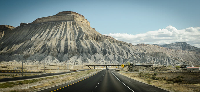 Leaving Grand Junction, CO taken one-handed while driving the view leaving the city was spectacular -- Clifton, Colorado, United States -- Copyright 2015 Jeffrey Friedl, http://regex.info/blog/2015-03-25/2545 -- This photo is licensed to the public under the Creative Commons Attribution-NonCommercial 4.0 International License http://creativecommons.org/licenses/by-nc/4.0/ (non-commercial use is freely allowed if proper attribution is given, including a link back to this page on http://regex.info/ when used online)