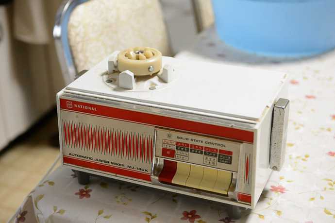 Almost As Ancient as the Cook her blender, a Panasonic MJ-140K, likely dates from the 70s. -- Takashima, Shiga, Japan -- Copyright 2015 Jeffrey Friedl, http://regex.info/blog/
