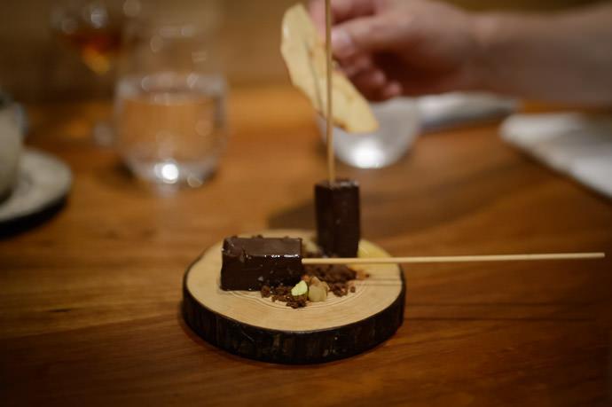 Bonus Fudge-Chocolate Dessert luckily, calories don't count on special occasions -- acá1° -- Kyoto, Japan -- Copyright 2015 Jeffrey Friedl, http://regex.info/blog/