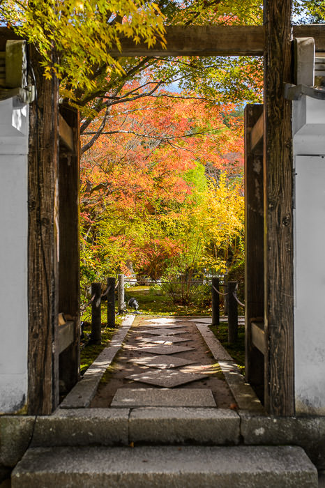 Garden Entrance 天授庵、庭園の入り口 -- Tenjuan Temple (天授庵) -- Kyoto, Japan -- Copyright 2015 Jeffrey Friedl, http://regex.info/blog/ -- This photo is licensed to the public under the Creative Commons Attribution-NonCommercial 4.0 International License http://creativecommons.org/licenses/by-nc/4.0/ (non-commercial use is freely allowed if proper attribution is given, including a link back to this page on http://regex.info/ when used online)