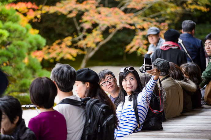 Selfie -- Tenjuan Temple (天授庵) -- Kyoto, Japan -- Copyright 2015 Jeffrey Friedl, http://regex.info/blog/ -- This photo is licensed to the public under the Creative Commons Attribution-NonCommercial 4.0 International License http://creativecommons.org/licenses/by-nc/4.0/ (non-commercial use is freely allowed if proper attribution is given, including a link back to this page on http://regex.info/ when used online)