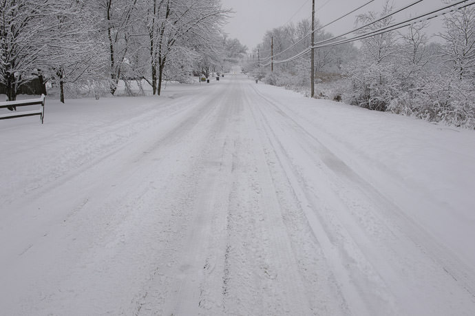 Cook Road runs behind our property -- Rootstown, Ohio, United States -- Copyright 2016 Jeffrey Friedl, http://regex.info/blog/