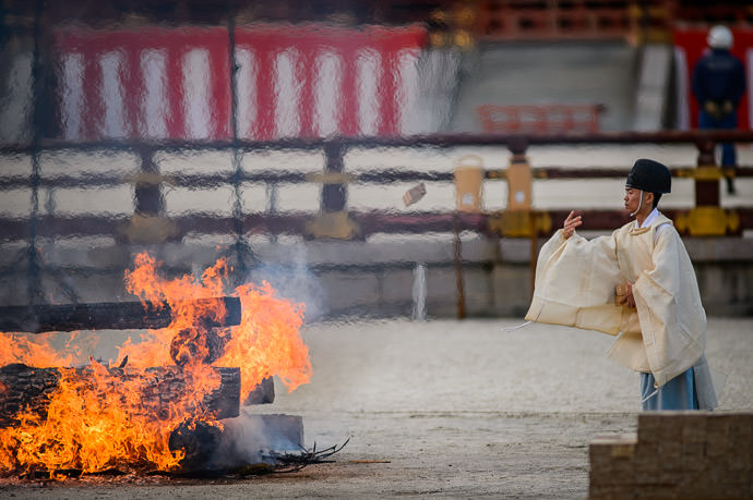 One By One Into the Fire -- Heian Shrine (平安神宮) -- Kyoto, Japan -- Copyright 2017 Jeffrey Friedl, http://regex.info/blog/ -- This photo is licensed to the public under the Creative Commons Attribution-NonCommercial 4.0 International License http://creativecommons.org/licenses/by-nc/4.0/ (non-commercial use is freely allowed if proper attribution is given, including a link back to this page on http://regex.info/ when used online)