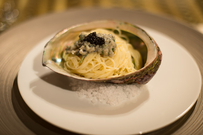 Pasta with Caviar -- AIC秋津洲京都 -- Kyoto, Japan -- Copyright 2017 Jeffrey Friedl